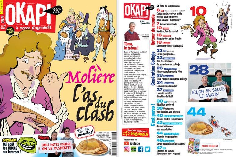 Au sommaire du magazine Okapi n°1103 du 1er janvier 2020